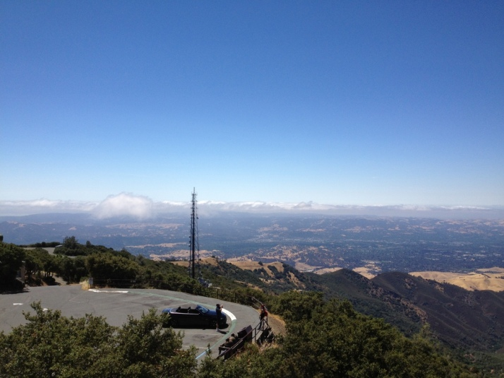 One view from the observation deck at Mt. Diablo State Park.